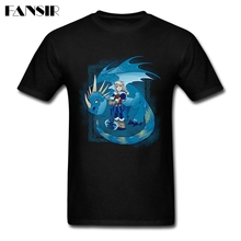 New Designed Shirts Men's Short Sleeve Cotton Custom Ride The Blue Dragon Adult Clothes Men T Shirt
