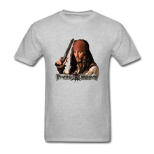Big Size Pirates Of The Caribbean Poster Leisure Tee Shirt Male Short Sleeve Cotton Custom Men T Shirt Family Clothes