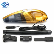 DC12V 120W Super Suction Handheld Vacuum Cleaner Silver Gold Portable Wet And Dry Dual Use For Vehicle Car Home Office