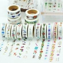(5 pieces/lot) Vintage Christmas Washi Tape DIY Adhesive Masking Tape Scrapbooking cinta de la decoracion