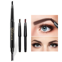 Double Head Automatic Rotating Eyebrow Pencil Brush Eye Definer Enhancer Makeup(China)