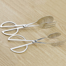 1Pcs Kitchen Practical Convenient Gadget Stainless Steel Scissors Type Food Clip Useful Tool(China)