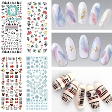 Rocooart DS271-300 Water Transfer Stickers Beauty Harajuku Blue Totem Decoration Nail Wraps Sticker Fingernails Decals for Nails