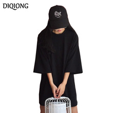 Buy Diqiong 2017 Summer Women's Clothing European O-neck Dress Fashion Women Straight Loose Mini Dress Black Casual T-shirt Dress for $10.08 in AliExpress store