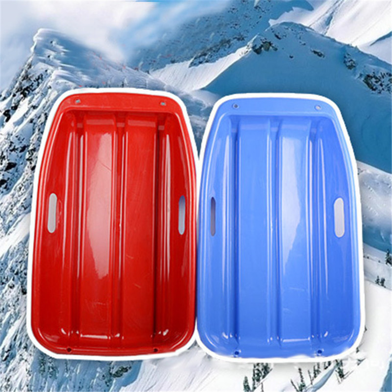 New Arrival Sled Snowboard Thickening Skiing Board Plate Grass Skiing Car Sliding Plate with Rope Slating Board For Kids Child(China)