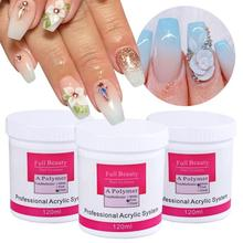 PKR 919.74  42%OFF | 1Box Acrylic Powder 3D Nail Tips Builder Poly Gel For Nail Polish Crystal Powder White Pink Clear Salon Manicure Accessory LA789