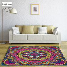 Carpet Poliester Feminine Mandala Circular Living Room Floral Bedroom Native Ornaments Rounds Indian Blue Red Green Pink Yellow