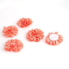 UXCELL Home Living Room Bedroom Fabric Table Wall Decoration Handcraft Diy Flower Coral  5 Pcs