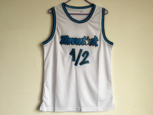 Hot Man Anfernee Penny Hardy Lil Penny 1/2 L.P. StitchedOutsale Throwback Black White Blue Basketball Shirt(China)