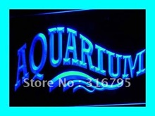 i237 OPEN Aquarium Shop Fish Display LED Neon Light signs On/Off Switch 7 Colors 4 Sizes