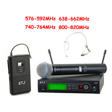 Top Quality SLX SLX24 BETA58/SM 58 UHF Professional Wireless Microphone System Super Cardioid BETA Handheld Microfone Mic(China)