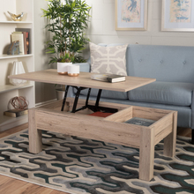 Enida Dark Brown Wood Lift Top Storage Coffee Table()