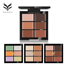 HUAMIANLI Natural Professional Concealer 6 Colors Contour Palette Makeup Foundation Base Face Cream Cosmetic Make Up(China)