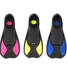 High quality Swimming Fins Adult Snorkeling Foot Flipper KIDS Diving Fins Beginner Swimming Equipment Portable short Frog shoes(China)