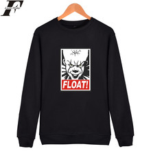 LUCKYFRIDAYF Stephen King's It Hoodies Men Plus Size Pennywise Fashion Horror Movie Sweatshirt Men Streetwear Hoodies Sweatshirt(China)