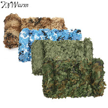 KiWarm 4m*2m Hunting Military Camouflage Net Woodland Camping Games Camouflage Net Mesh Army Training Camo Netting Car Covers