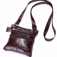 Hot sell famous brand design Genuine leather men bag,mens casual business  messenger bag,vintage fashion mens cross body bag