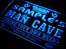 qa-tm Name Personalized Custom Man Cave Football Bar Beer Neon Sign with On/Off Switch 7 Colors 4 Sizes