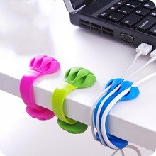 1PC! Cable Organizer Finishing The Desktop Plug Wire Retention Clips Snap Hub Power Cord Winder Cable Management Device