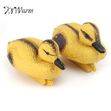 KiWarm 1 Pair Mini Floating Ducks Decoy Hunting Shooting mallard Deterrent Repeller Pond Pool Decor  Home Decorative  Ornaments