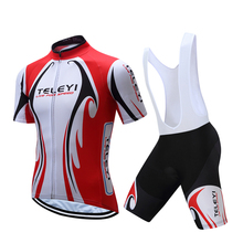 2017 Men's Summer Short sleeves cycling clothing Sets Breathable MTB/Road Bike Bicycle Sportswear Roupa Maillot Ciclismo
