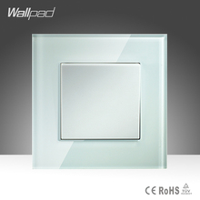 Hot Sales 1 Gang 1 Way Wallpad Hotel Luxury Crystal Glass UK EU Push Button Light Wall Switch Biggest Discount(China)