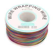 UXCELL High Temperature Resistant Wraping Wire B-30-1000 Multicolor Copper Core Cable