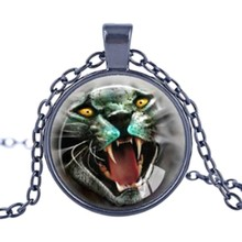 Time Gem Series Animals Tigers Pendant Charm Necklace for Women and Men
