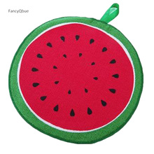 Hanging Fruit Pattern Cartoon Towel Kitchen cloth With Water Absorbing Cloth Towel Quick-Dry Cleaning Rag Cloth Wiping Napkin