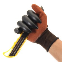 NEW Safurance Garden Gloves for Digging & Planting with 4 ABS Plastic Claws Durable Waterproof Safety Glove