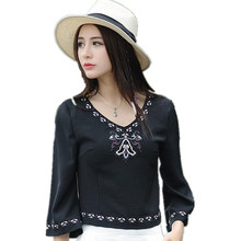 Buy Blusa Vintage 2017 Brand Summer Women T Shirt Fashion Women Embroidery T-Shirt Pullover Casual Clothing Tops Tee Ethnic Clothes for $17.63 in AliExpress store