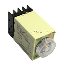 Power Off Delay Timer Time Relay 0-3 Minute 3M ST3PF with socket base AC 110V/380V DC24V(China)
