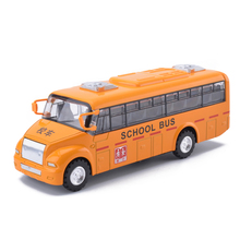 New Alloy Emulational Car Model Toys Classic 1:36 School Bus With Pull Back Car Toy Door Openabled For Kids Christmas Gifts(China)
