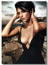Custom Canvas Wall Decor Sexy Monica Bellucci Poster Monica Bellucci Wallpaper Italy Model Sticker Office Wall Murals Bar #0172#(China)