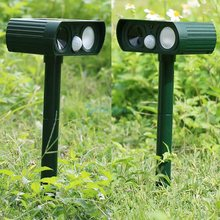 Ultrasonic LED Flash Solar Powered Rat Pest Reject  Dog Cat Fox Repeller Repellent Animal Garden Pest Control Tools Gear Green