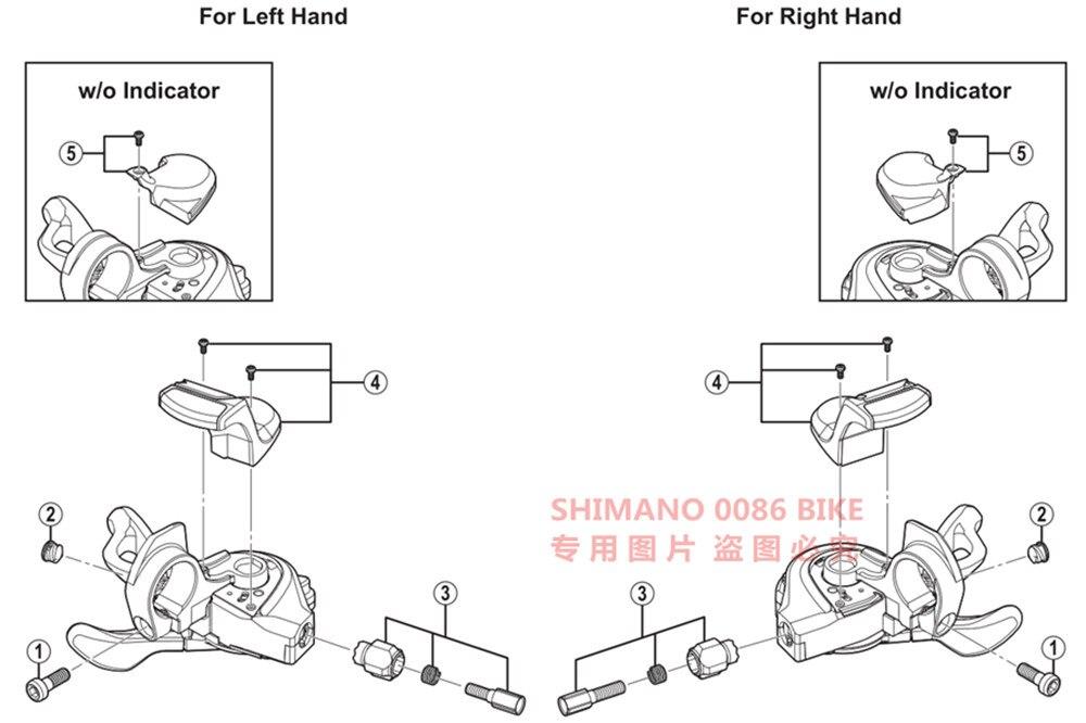 Shimano XT SL-M8000-I I-Spec-II Rapidfire Plus Lever Cover Unit Left Hand