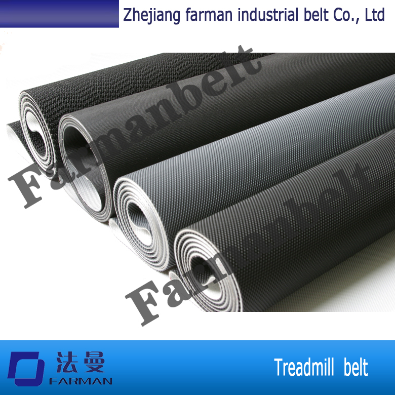 Hot selling black treadmill belt/pvc conveyor belt F115BZP<br>