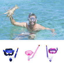 New Kid Children Diving Mask Swimming Goggles Snorkeling Glass Equipment Tempered Glass Diving Goggles(China)