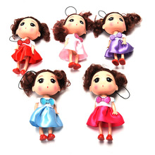 1Pc Kids Toys Soft Interactive Baby Dolls Toy 12CM Mini Doll For Girls