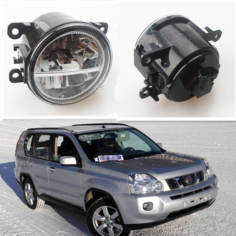 For NISSAN X-Trail T31 Closed Off-Road Vehicle 2007-2014 Car Styling Front Bumper LED Fog Lights High Brightness Fog Lamps 1 Set<br>