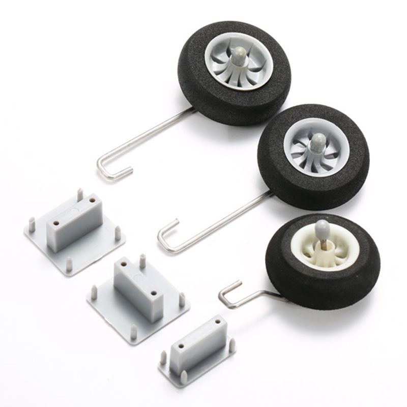 Landing Gear Fixed Base With Steel Wire & Wheel For 50mm Ducted RC Airplane(China (Mainland))