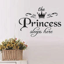2017 New Arrival DIY Removable Princess Sleeps Wall Stickers Art Vinyl Decals Home Baby Girls Room Bedroom Dormitory Decor