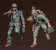 1/35 Resin Figure Model Kit American Pacific war 2 figures Unassambled Unpainted(China)