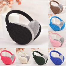 Giraffita New Women Winter Knitted Earmuffs Winter Ear Protector Warm Ear Muffs Cover Plush Winter Ear Warmers(China)