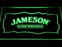 a159 Jameson Whiskey Bar Club Pub LED Neon Sign with On/Off Switch 7 Colors 4 Sizes to choose