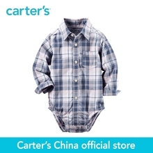 Carter's 1pcs baby children kids Plaid Button-Front Shirt 225G588 ,sold by Carter's China official store
