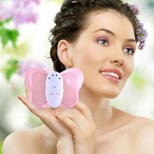 Hot Mini Slimming Pink Body Electronic /muscle Massage Butterfly Design Weight Loss Device Burning Fat Body Massage(China)