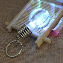 1pcs Creative Colorful Changing LED Flashlight Light Mini Bulb Lamp Key Chain Ring Keychain Clear Lamp Torch Keyring Wholesale