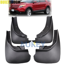 Set Mudflaps Fit for Ford Explorer 2011-2017 Splash Guards Mud Flaps Front Rear Mudguards Fender Accessories 2016 2015 2014 2013