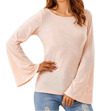 Back Lollow Out Lace Butterfly T Shirt Long Falre Sleeves Top Elegant O-Neck Tshirt For Women Summer Wear